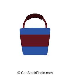 sand bucket flat style icon