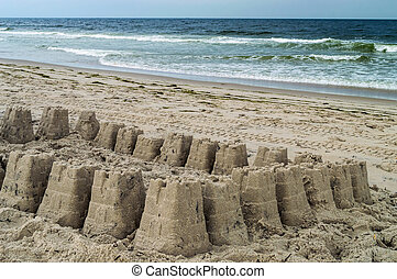 Sand Castle and Surf