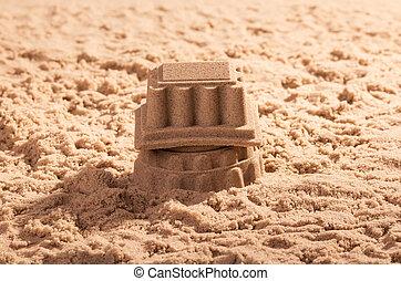 Sand Castle close up. Background.