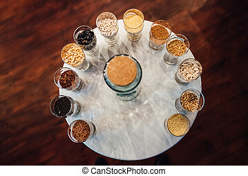 sand ceremony table at wedding day