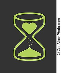 Sand clock b - Hand drawn vector illustration or drawing of...