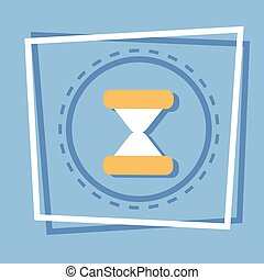 Sand Clock Icon Time Watch Concept