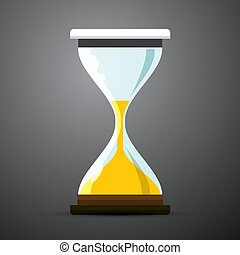 Sand Clock Icon. Vector Hourglass Symbol.