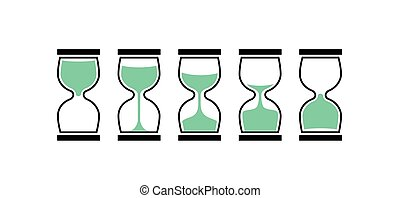 Sand clock time icon. Hour glass sand watch timer. Hourglass...