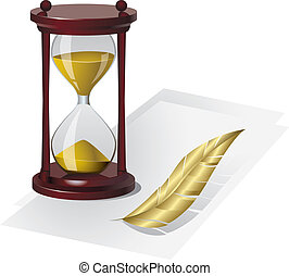 Sand Clock. Vector illustration
