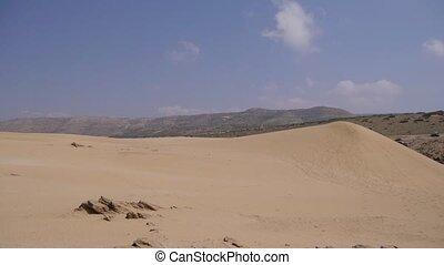 Sand desert, pan