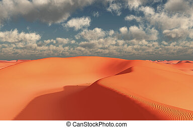 Sand desert with hills