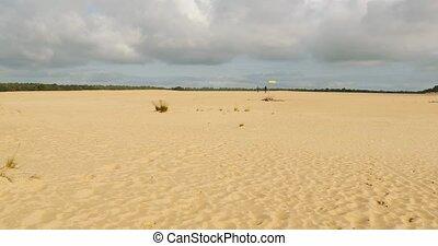 Sand Dune Landscape with some vegetation - Sand dunes of ...