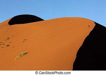 Sand Dune - Namib Desert - Sossusvlei - Namibia - Tourist ...