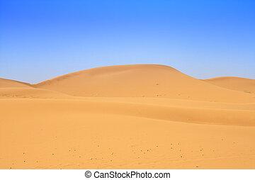 sand dunes and beautiful cloudless sky