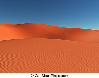 Sand dunes - Computer generated 3D illustration with sand...