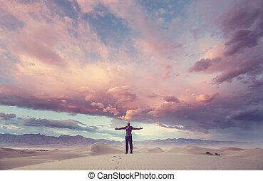 Sand dunes in California - Sand dunes in Death Valley...