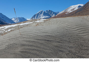 Sand dunes in the mountains. National Park