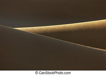 Sand dunes in the Sahara desert of Morocco.