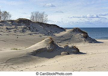 sand dunes on the sea beach, sand dunes