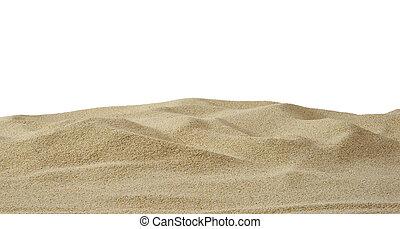 Sand Dunes - Sand dune on white background