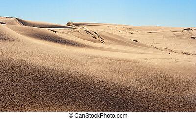 sand dunes wide shot