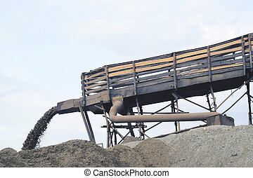 sand extraction in a quarry