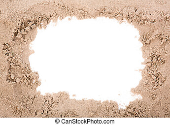 Sand frame with copy space