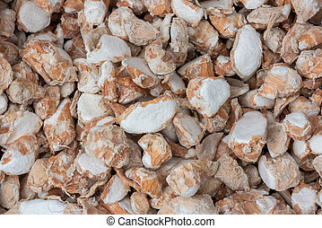 Sand ginger close-up in a market