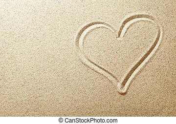 sand, herz