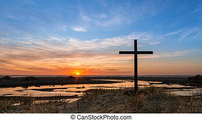 Sand Hill Cross Sunset