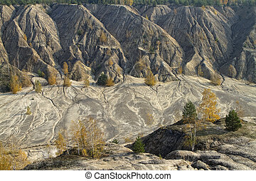 sand hills in the autumn