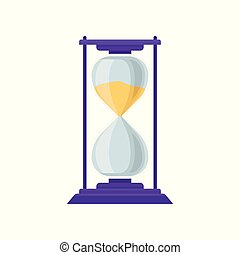 Sand hourglass, sandglass device for measuring time vector...