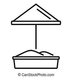 Sand kid playground icon, outline style