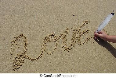 sand, liebe
