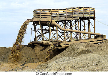 sand mining in the quarry