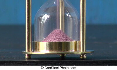 sand motion  in Hourglass, sandglass, sand clock