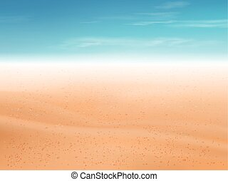 sand of beach or desert background with blue sky