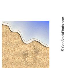 Sand of the beach