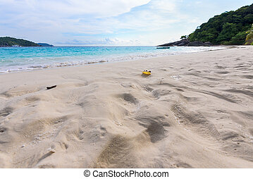 Sand on beach at Similan island in Thailand