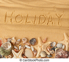 sand on beach holiday background
