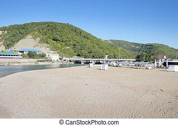 sand on the solar beach