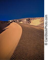 Sand pattern of the dune in Tassili nAjjer national park, Algeria
