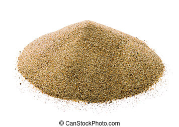 Sand - Pile of dry sand isolated on white
