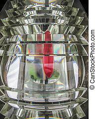 Sand Point Lighthouse fresnel lens