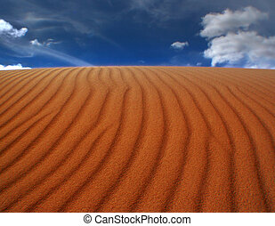 Sand Ripples and sky