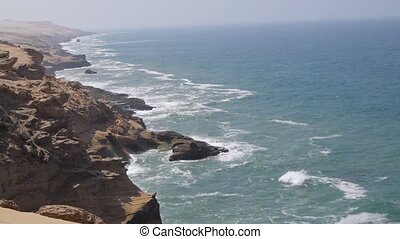 Sand, rock, coastline morocco