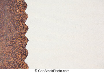 sand rusty metal background of wavy form