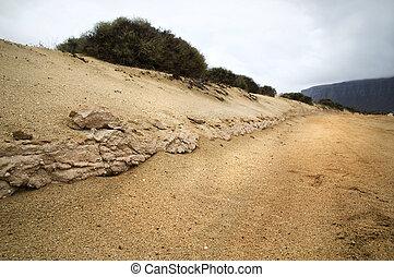 (sand), straße, schmutz