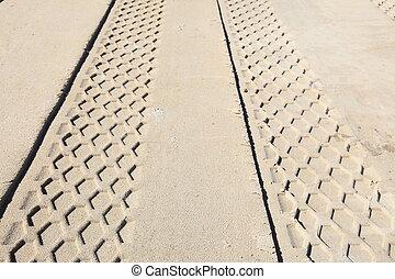 sand track