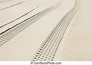 sand track - abstract composition for tracks on sand from ...