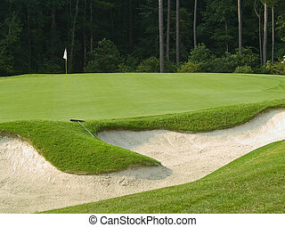 Sand Trap - A sand trap on this beautiful Myrtle Beach,...