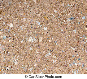 sand with gravel as background