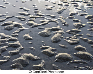 Sand with surface water