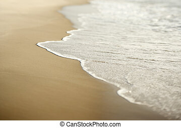 Sand with waves.